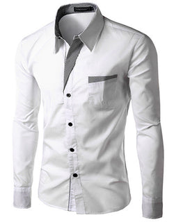 Deals Blast: Brand New Mens Formal Business Shirts Casual Slim Long Sleeve Dresse Shirts Camisa Masculina Casual Shirts Asian Size M-4XL: Deals Blast