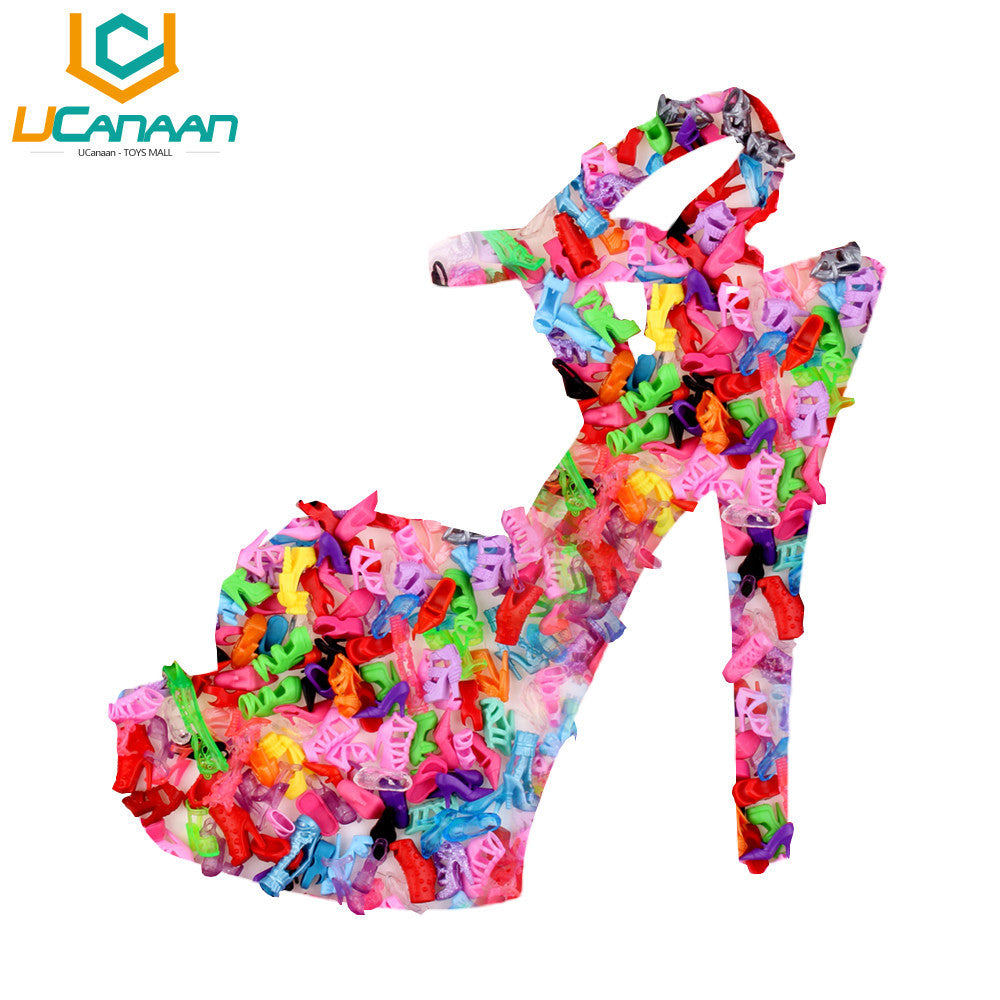 10 Pair Fashion Colorful Accessories Shoes Heels Sandals For Barbie Clothes Dress Doll Best Gift Girl Baby Toys Deals Blast