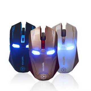 Deals Blast: New Iron Man Mouse Wireless Mouse Gaming Mouse gamer Mute Button Silent Click 800/1200/1600 / 2400DPI Adjustable computer mice Deals Blast