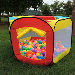 Play House Indoor and Outdoor Easy Folding Ball Pit Hideaway Tent Play Hut Garden Playhouse Kids Tent: Deals Blast
