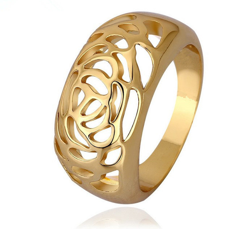 1PCS New Arrival Fashion Jewelry Gold Plated Hollow Rings For Women - Deals Blast