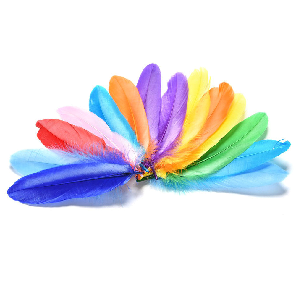 20-30pcs Assorted Color Pretty Feather DIY Toy Two Size Children Adult DIY Drawing Artwork Toys - Deals Blast