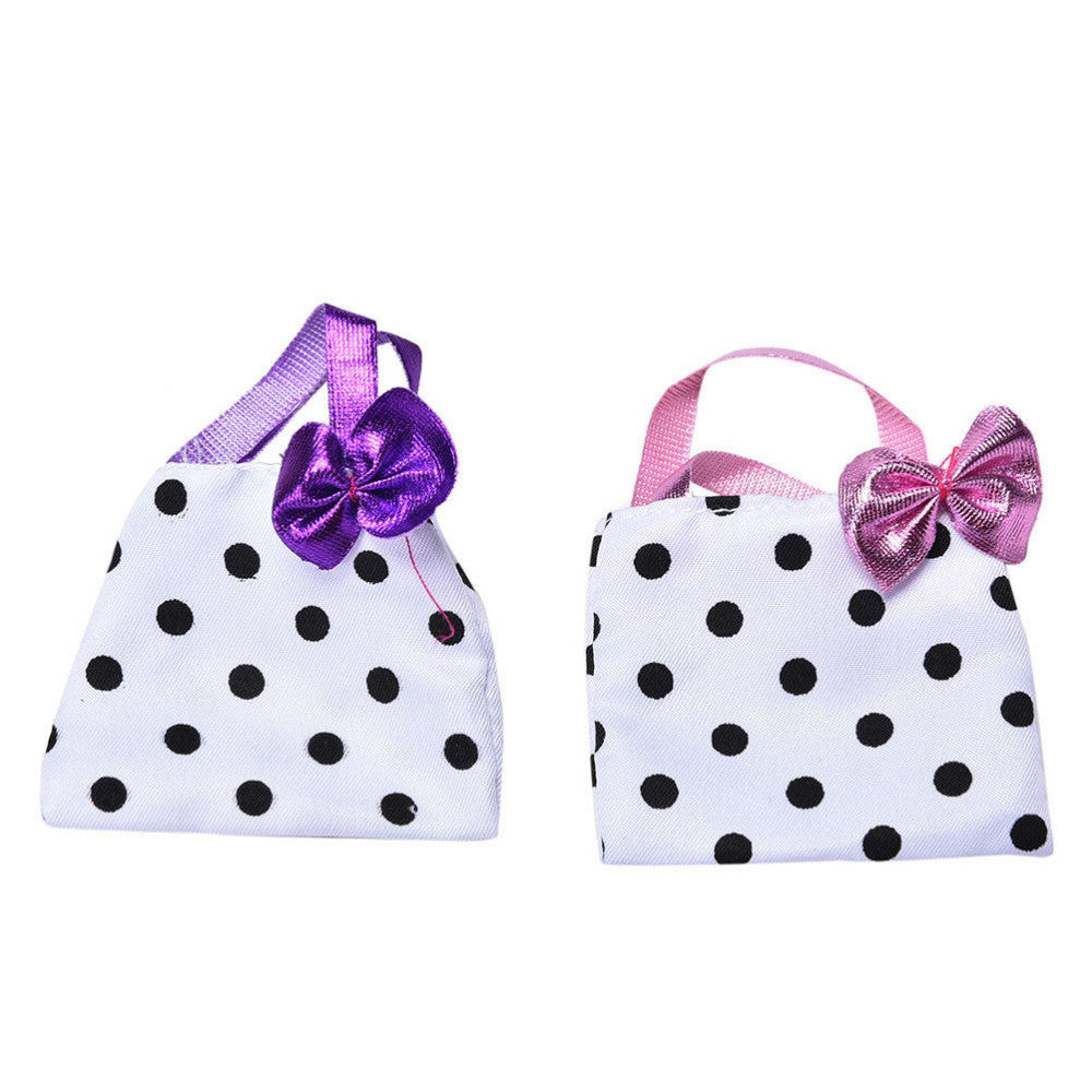 1Pc New DIY Polka Dot Handbag for Barbies Doll's Fashion Bag Kids Toy Doll Accessories - Deals Blast