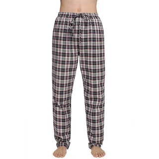 Deals Blast: Men Multicolor Plaid Sleepwear Lounge Pajamas Male Pants Trousers Deals Blast