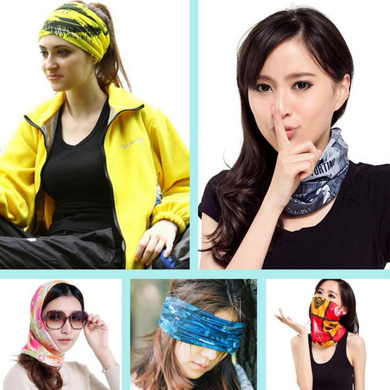 Deals Blast: Environmental Microfiber Cotton And Polyester Bandana Fabric Multifunctional Seamless Wear Headband Motorcycle Scar Deals Blast