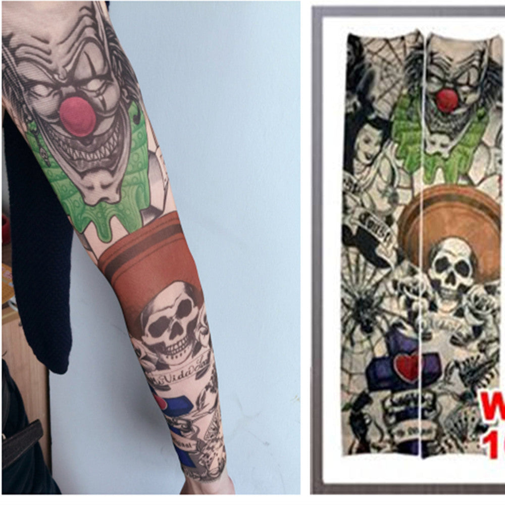 Fake Tattoo Sleeve Temporary Body Arm Sleeves Stockings Fashion Make Up Accessories 1PC Flash Body Art Stickers Harajuku Deals Blast