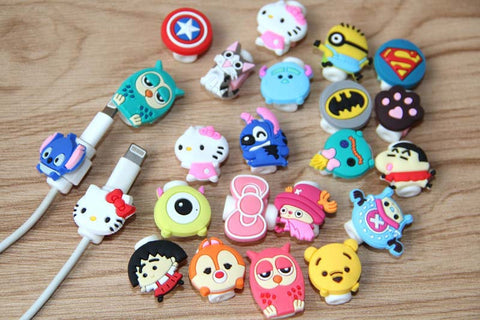 Deals Blast: 1pcs USB cable Earphones Protector colorful hello kitty Cover For iphone android cable Data Line Protection sleeve