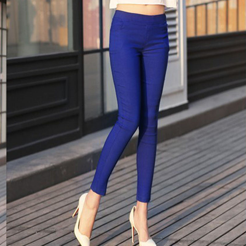 Deal Blast: 2017 Stretch Fashion Female Candy Colored Pencil Women's Pants Sexy Elastic Cotton Slim Pants Women OL Trousers Leggings - Deals Blast