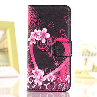 Deals Blast: For Apple iPhone 7 PLUS 6 6s Plus SE 5 5S 5C 4 4S phone case pu leather flip stand Wallet Card Slot Painted Butterfly Fly Flower Deals Blast