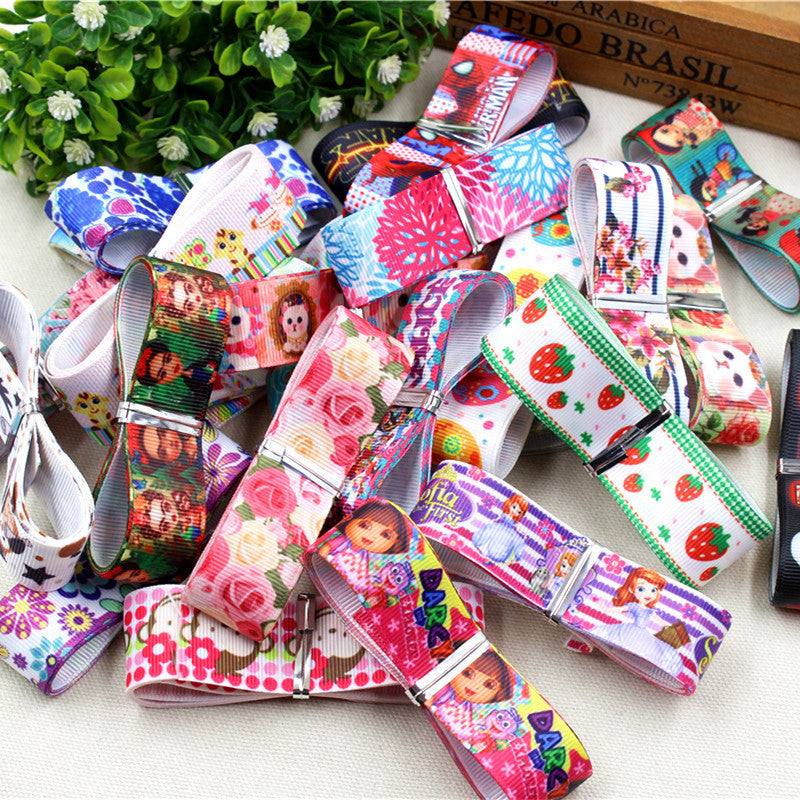 10 style mix 25MM-22MM cartoon series Printed grosgrain ribbon , DIY handmade accessories Material wedding gift wrap - Deals Blast