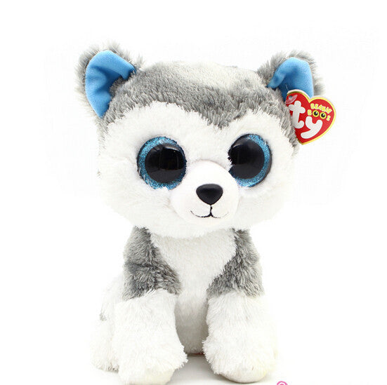 1pc18cm Hot Sale Ty Beanie Boos Big Eyes Husky Dog Plush Toy Doll Stuffed Animal Cute Plush Toy Kids Toy - Deals Blast