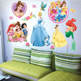 Princess Home Decor art wall stickers for kids rooms child love diy family decoration vinyl poster mural bathroom mirror decals Deals Blast