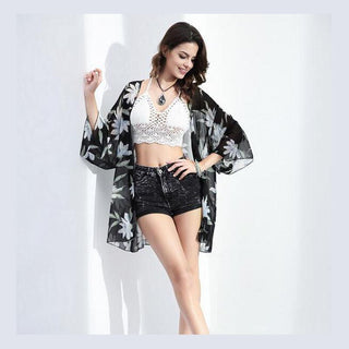 Deals Blast: Women Jacket 2016 Summer Bikini Beach Outside Smock Chiffon Kimono Cardigan Jacket Outside The Ride Deals Blast