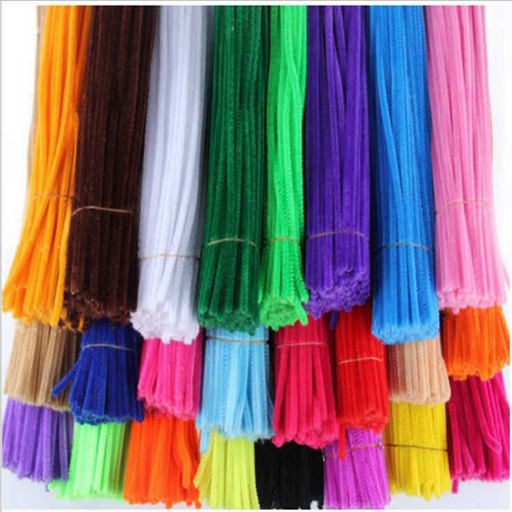 1packs (100pcs) Multicolour Chenille Stems Pipe Cleaners Handmade Diy Art &Craft Material kids Creativity handicraft toys Deals Blast