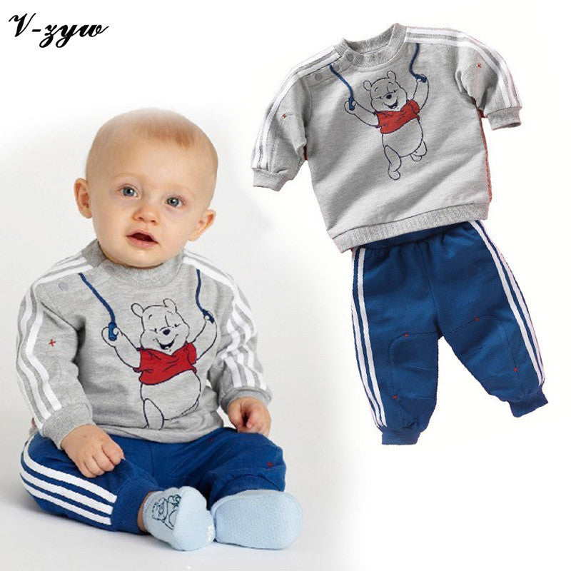 2016 Autumn Baby Boy Girl Clothes Long Sleeve Top Pants 2pcs Sport Suit Baby Clothing Set Fashion Newborn Infant Clothing - Deals Blast