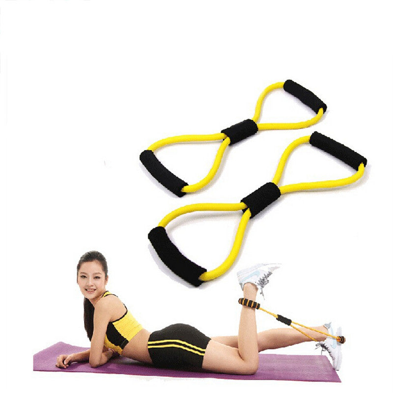 1x 8-shaped chest developer pull rope women resistance bands comprehensive fitness exercise Deals Blast
