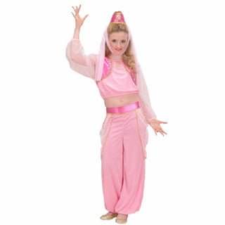 Aladdin Jasmine Cosplay Costume Pink Belly Costume Fantasia Infantil Children Fancy Dress Halloween Costume for Kids: Deals Blast