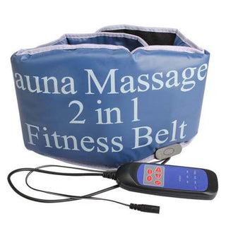 2 in 1 Electric Vibrating Sauna Fitness massage Belt Body Health care beauty Massager Heating tone RELAX TONE fat weight losing - Deals Blast