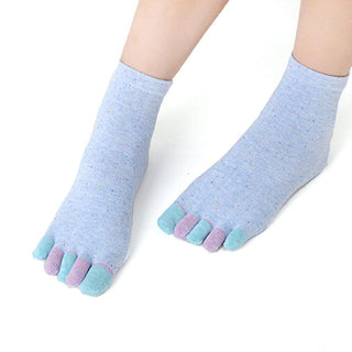 Deals Blast: Newly Design 1 Pair Womens Cotton Massage Five Toe Socks Full Grip With Socks Heel Free Shipping Deals Blast