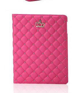 New Diamond Leather Protective Case for iPad Air/iPad 5 9.7 inch Crown Plaid Foldable Stand Tablet Cover for iPad Air CL06 Deals Blast