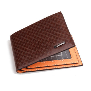Deals Blast: 2016 Fashion Men's Wallet Plaid Pattern New Order Leather Cross Brown Card Holders Purse Wallets For Men Deals Blast