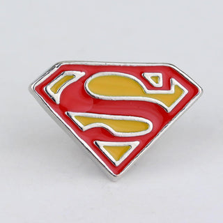 New fashion  Superhero Superman S Logo brooches badge Pin High quality enamel pin Dress Accessory jewelry lapel pin men - Deals Blast