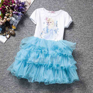 Deals Blast: 2016 Hot Sell New Girls Children Clothes,Anna Elsa Dress Girl,Baby Elsa Costume Kids Summer Princess Vestidos Infantis Dresses Deals Blast