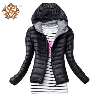 Deals Blast: 2016 Autumn Winter fashion Women Basic Jacket Coat Female Slim Hooded Brand Cotton Coats Casual Black Jackets women tops Deals Blast