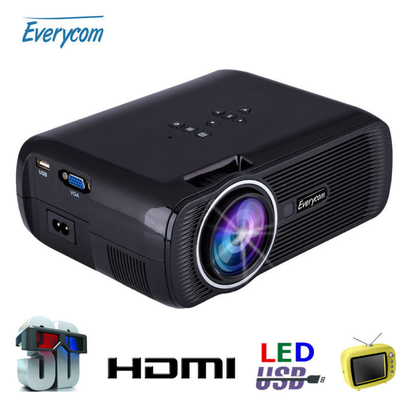 Led Lcd Projector X7 Home Cinema Theater Multimedia Led: Deals Blast: Original Everycom X7 Mini Projector Full Hd