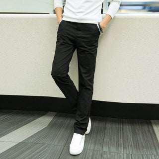 Deals Blast: 2016 Hot Selling Men Pant Fashion Korean Style Slim Fit Mens Khaki Pants Designer Mid-Rise Casual Men Chinos Trousers Deals Blast