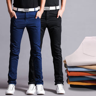 Deals Blast: High Quality Cotton Chino Pants Straight Men Pants Slim Men Trousers Casual Pants Deals Blast