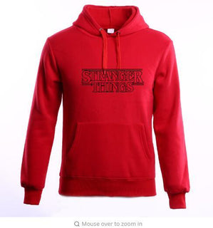 Hoodie Sweatshirts Pink Men Women Stranger Things
