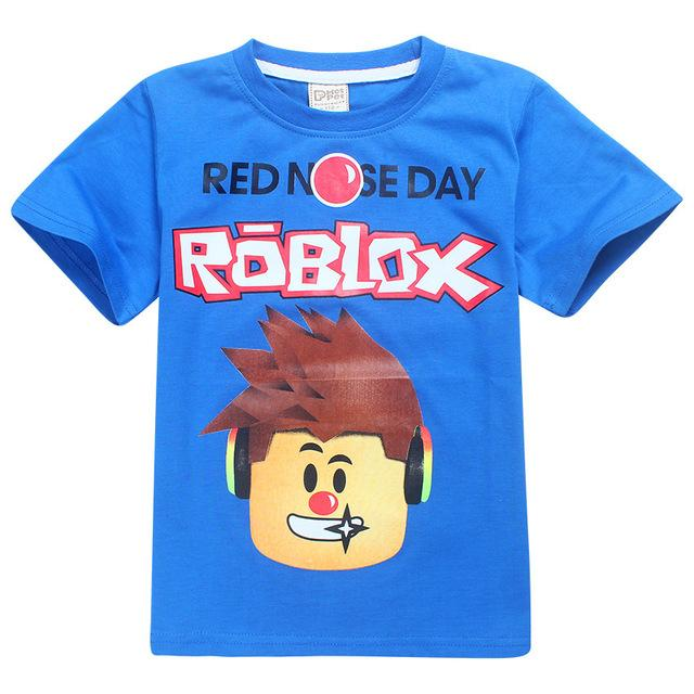 Children's Day Kids Boys T-shirt Girls Tops Tees Cartoon five nights at freddy's Tshirt Kids Clothes ROBLOX RED NOSE Day T Shirt