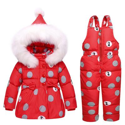 Children's Down Jacket Winter Warm  Snow Suit  Girls