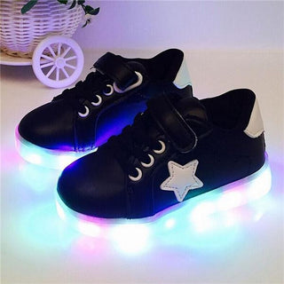Kids Shoes With Light Autumn Baby Boys Girls LED Light Shoes Children sneakers: Deals Blast