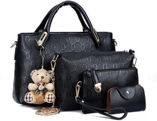 Women bag top-handle bags handbag set Leather composite bag  4pcs/set