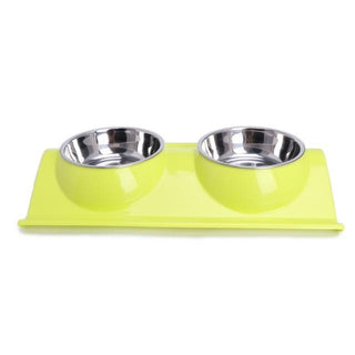 Stainless Steel Combo Dog & Cat Food  Bowl - Deals Blast