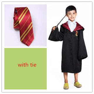 Halloween Adult/ Kids Harri Potter Cosplay Costumes  Robes / Tie Gryffindor  Ravenclaw Mantle Slytherin  Hufflepuff  Cloaks - Deals Blast