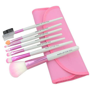 7pcs/Set Makeup Brushes Eyeshadow Powder Eyebrow Eyeliner Make Up Brush Set: Deals Blast