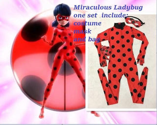 The Miraculous Ladybug Cosplay Costume Halloween for Girls: Deals Blast