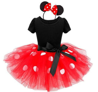 Summer New kids dress minnie mouse princess party costume infant clothing Polka dot baby clothes birthday girls tutu dresse - Deals Blast