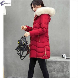 Deals Blast: Women Fur Collar Winter Coat Down Warm Parka Jacket: Deals Blast