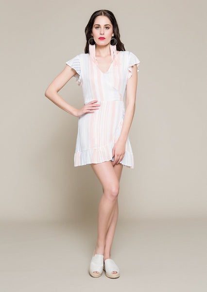 Frilled Foldover Dress With Open Back - Envy online clothing store south africa