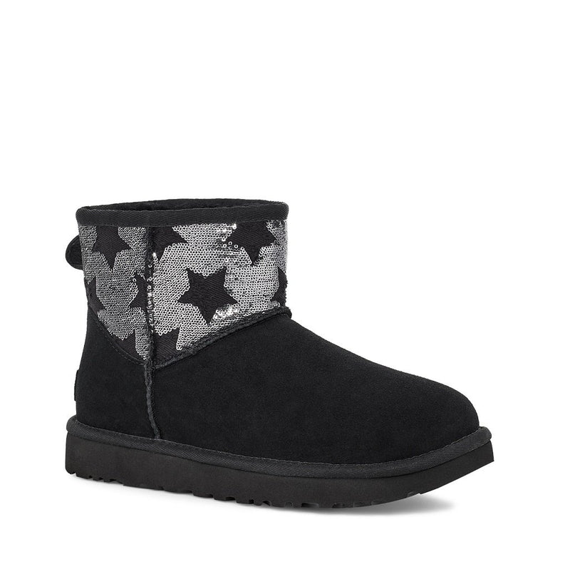UGG - Classic Mini Sequin Star - Black - Envy - online clothing