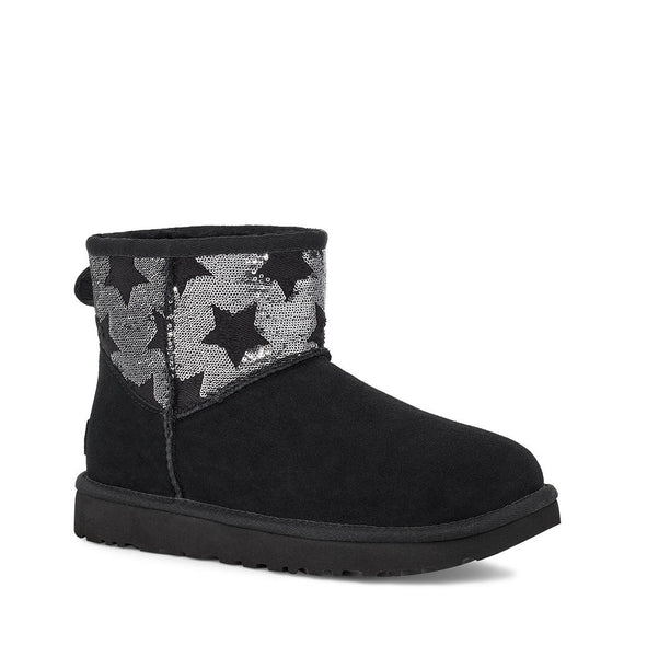 UGG - Classic Mini Sequin Star - Black - Envy