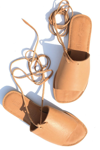 SOFIA Leather Sandal - Tan