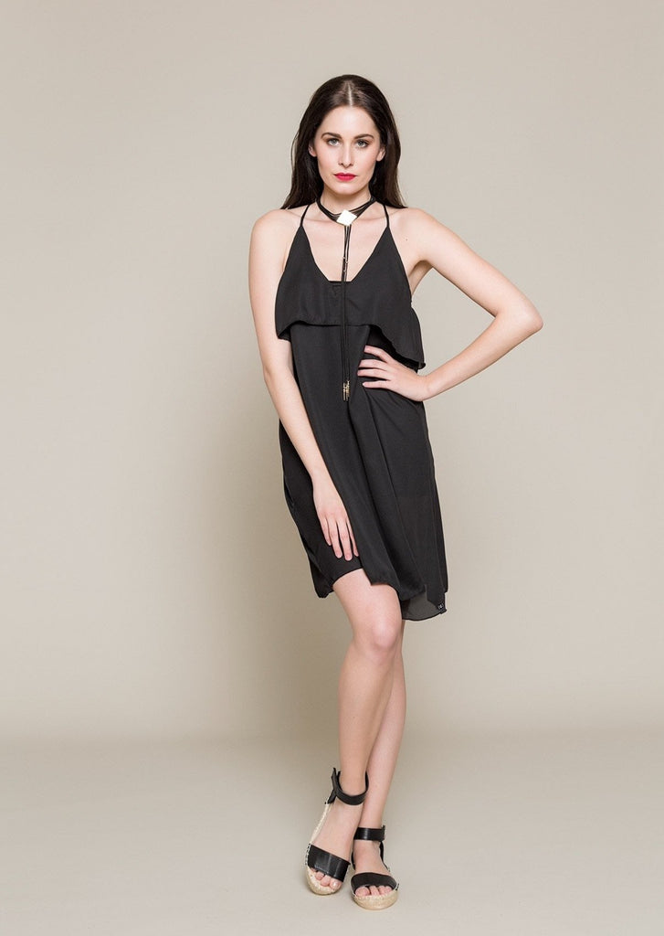 SLEEVELESS CHIFFON COCKTAIL DRESS - Envy