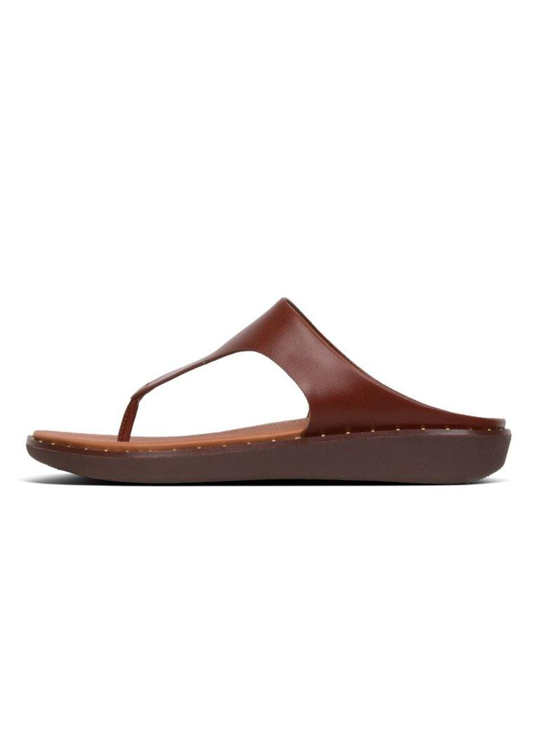 Banda II Stud Toe Post Cognac - Envy - online clothing