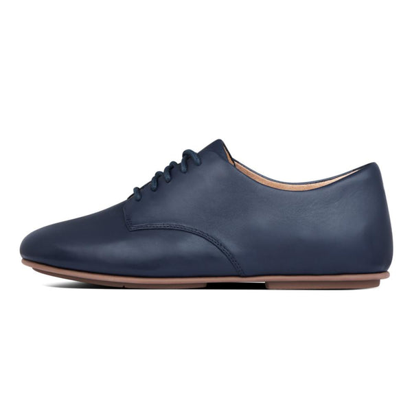 Adeola Leather Lace-Up Mild Navy - Envy