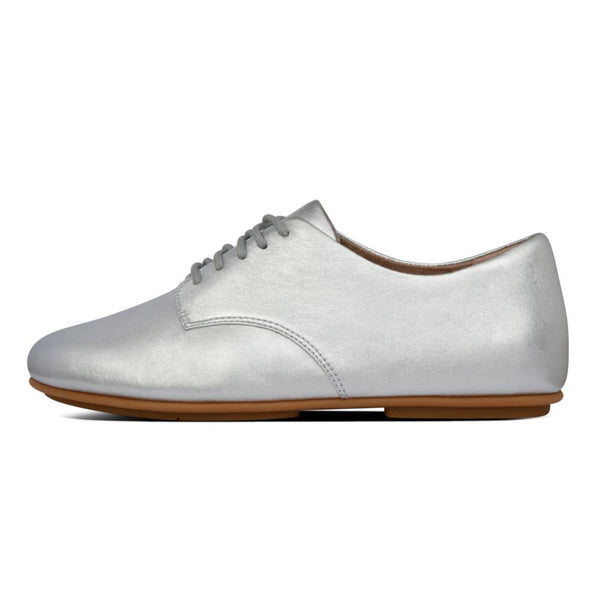 Adeola Leather Lace-Up Silver - Envy